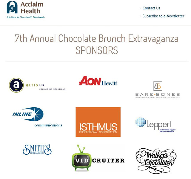 Sponsors for the 7th Annual Chocolate Brunch Extravaganza