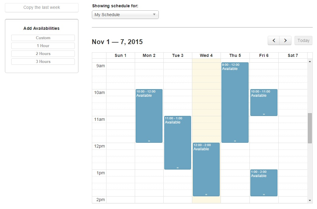 Availability Calendar That You Can Manage