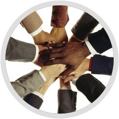 A Group of Hands Forming a Circle