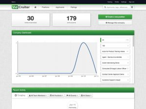 VidCruiter Software Dashboard