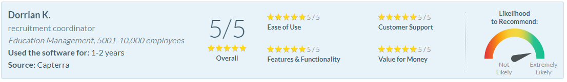 Software Advice Review - Dorrian K.