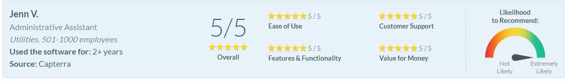 Software Advice Review - Jenn V.