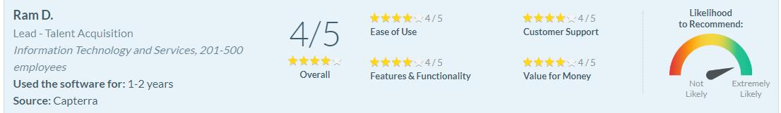 Software Advice Review - Ram D.
