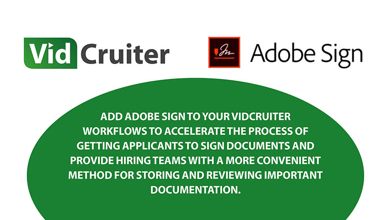 VidCruiter and Adobe Sign logos
