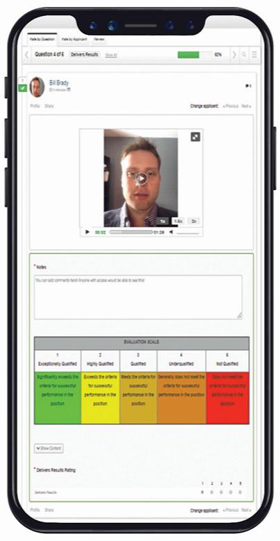 Tableau de bord des entrevues vidéo sur la plateforme de VidCruiter
