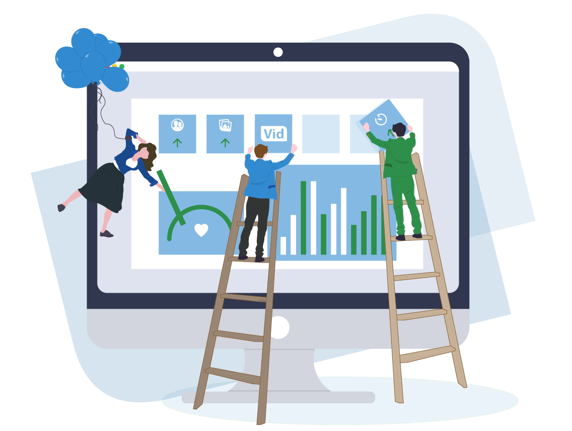 Illustration of the Branding Capabilities on the Live Interviewing Platform