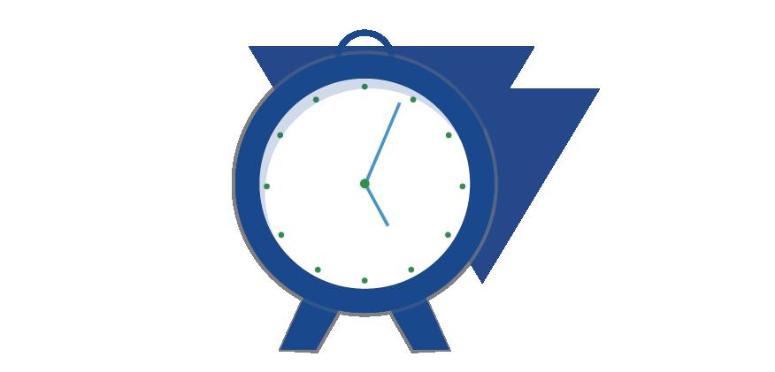 Horloge bleue