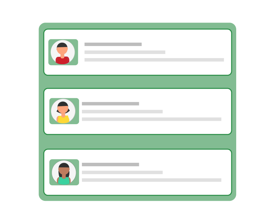 3 Applicant Profiles with a Picture of the Candidate