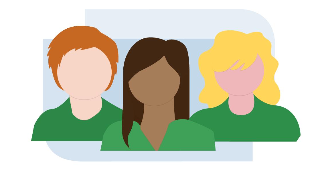 Illustration of Three Recruiter's Headshots