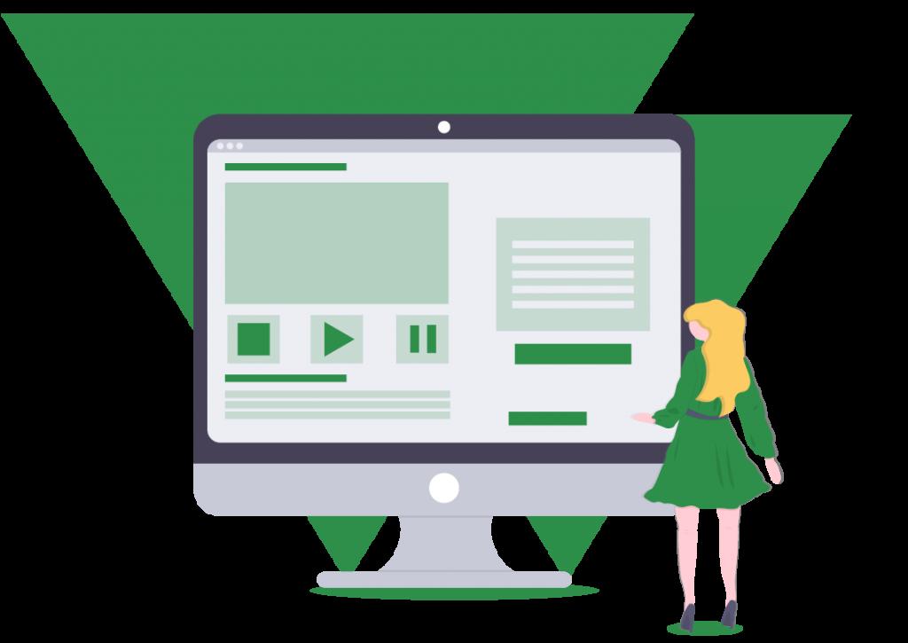 Women Looking at an Online Interview Dashboard