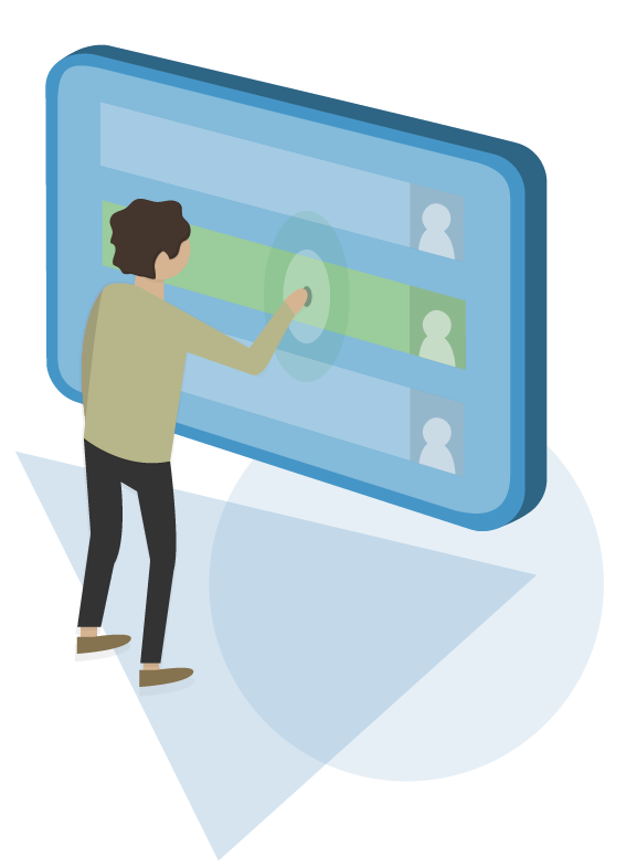 Illustration of a Recruiter Using the Live Interview Solution