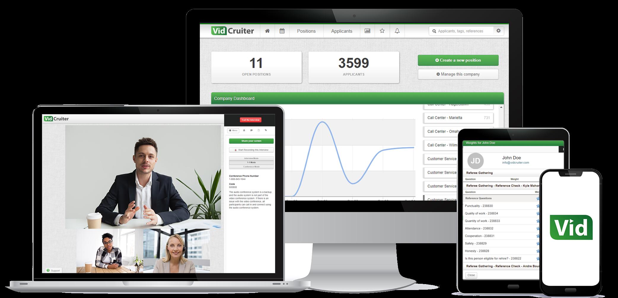 VidCruiter's Video Interviewing Platform