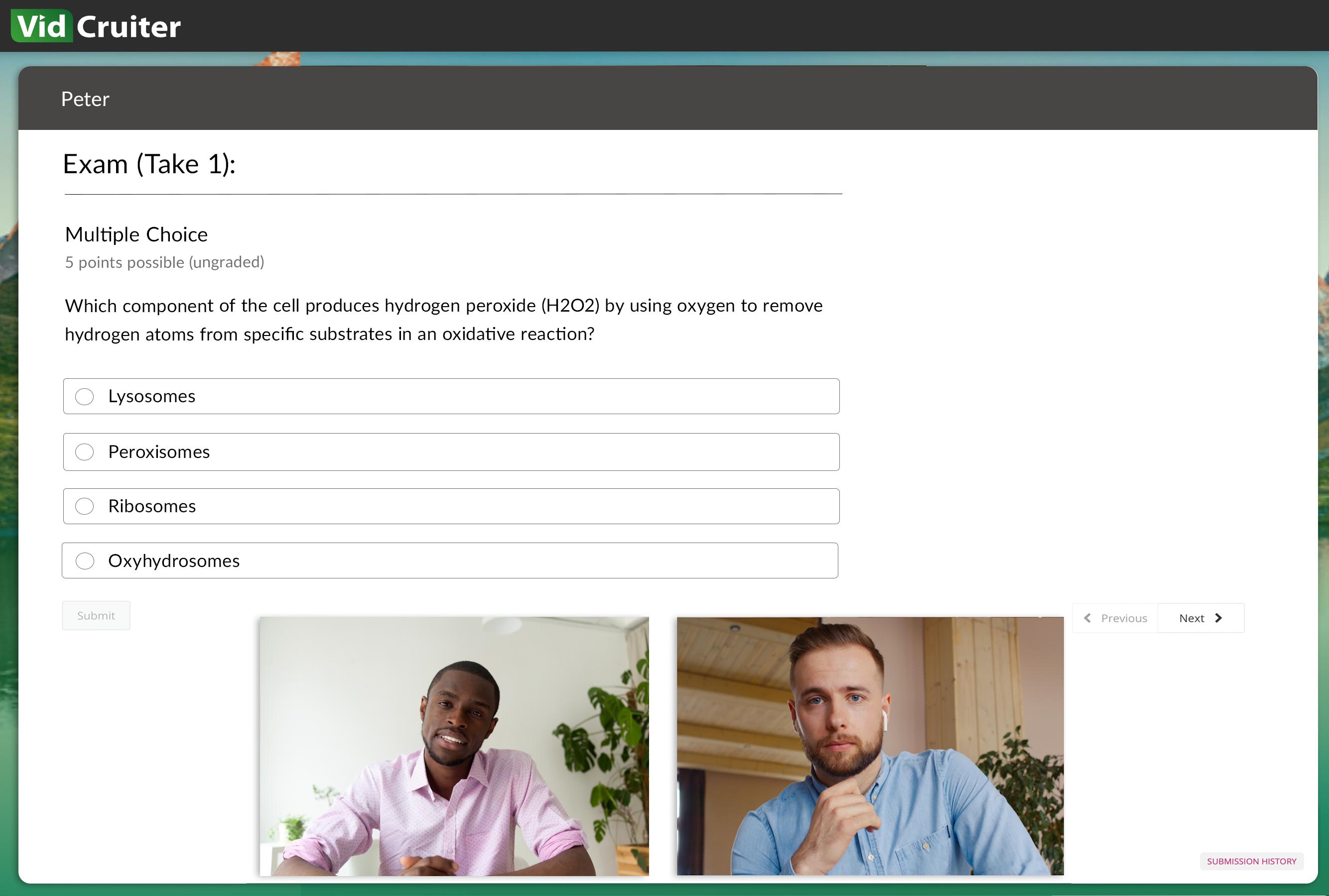 Human proctored online testing software
