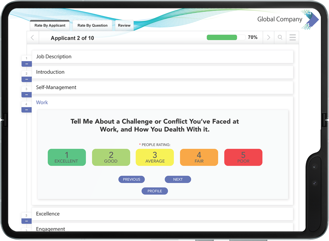 In-Person Structured Interviewing Software Image
