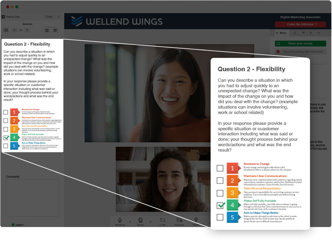 Structured Interviewing Software Image